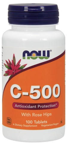 Image of C-500 with Rose Hips Tablet