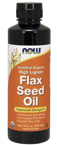 Image of Flax Seed Oil Liquid High Lignan Organic