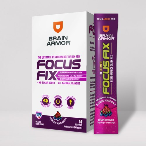 Image of Focus Fix Performance Drink Mix Blueberry-Pom Stick Pack