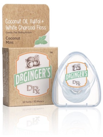 Image of Floss Coconut Oil, Xylitol + White Charcoal
