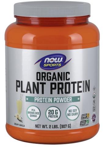 Image of Plant Protein Powder Organic Natural Vanilla