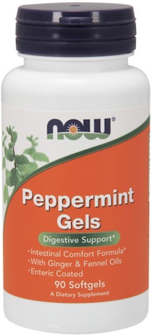 Image of Peppermint Gels 131 mg with Ginger & Fennel