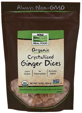 Image of Dried Fruit Ginger Dices Crystallized Organic