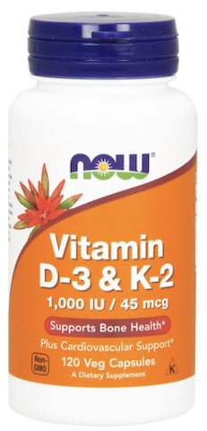 Image of Vitamin D3 & K2 1000 IU/45 mcg
