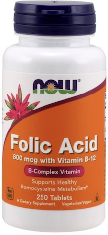 Image of Folic Acid 800 mcg with Vitamin B12