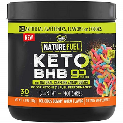 Image of Nature Fuel Keto BHB Powder - Gummy Worm Flavor