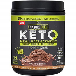Image of Nature Fuel Keto Meal Replacement Shake, Double Chocolate Milkshake