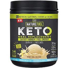 Image of Nature Fuel Keto Shake, Creamy Vanilla Milkshake