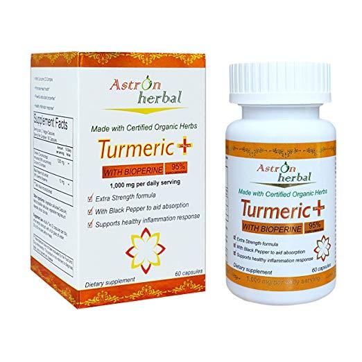 Image of Turmeric Plus 1000mg (95% Curcuminoids) with 10mg Bioperine (Black Pepper)