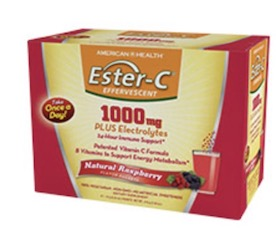 Image of Ester-C 1000 mg plus Electrolytes Effervescent Powder Raspberry