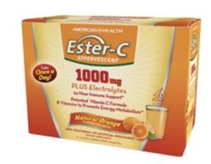 Image of Ester-C 1000 mg Plus Electrolytes Effervescent Powder Orange