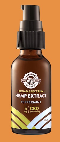 Image of Broad Spectrum Hemp Extract 5 mg Spray Peppermint