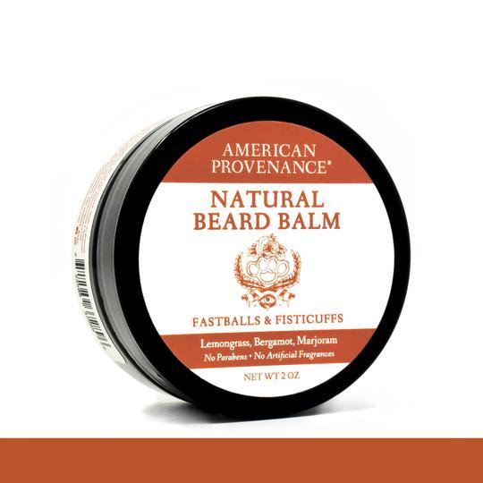 Image of Beard Balm Fastballs & Fisticuffs; Lemongrass, Bergamot, Marjarom