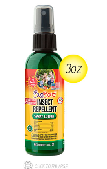 Image of BugBand Insect Repellent Spray Lotion | 3-oz. Pump Bottle