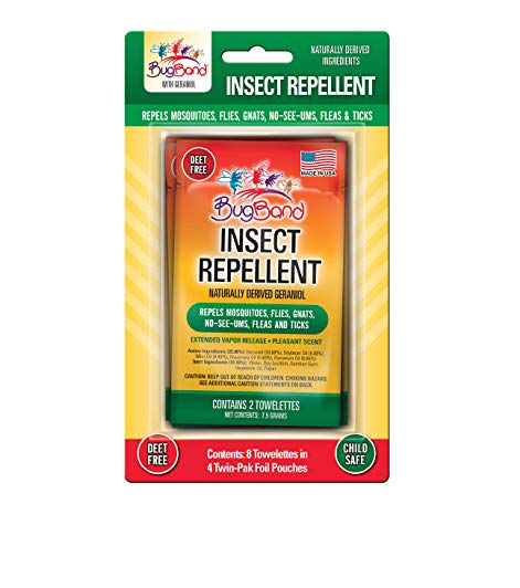 Image of Twin Pack Insect Repellent Wipes Clip Strip