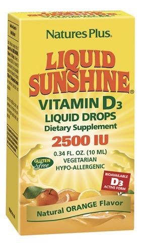 Image of Liquid Sunshine Vitamin D3 2500 IU Drops Orange