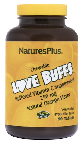 Image of Love Buffs Buffered Vitamin C 250 mg Chewable Orange