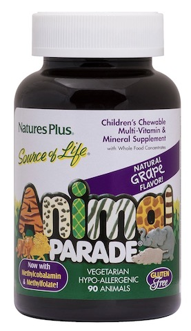 Image of Animal Parade Children's Multivitamin Chewable Grape