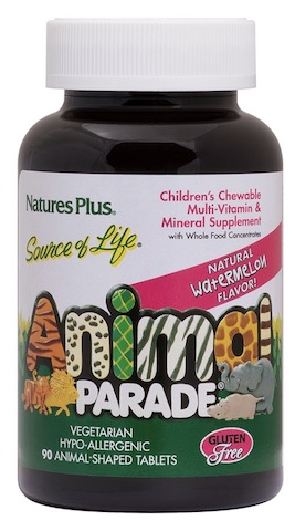 Image of Animal Parade Children's Multivitamin Chewable Watermelon