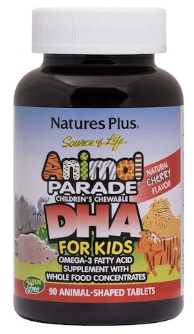 Image of Animal Parade DHA For Kids Chewable Cherry