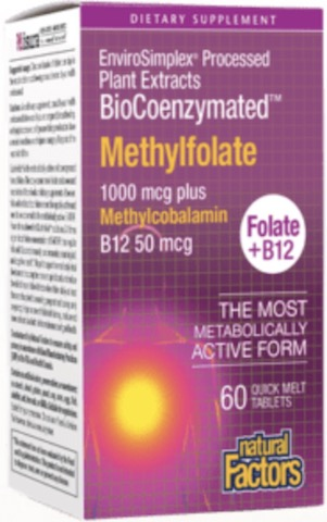 Image of BioCoenzymated Methylfolate 1,000 mcg plus B12