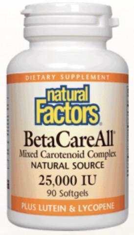 Image of BetaCareAll 25,000 IU (mixed carotenoid complex)