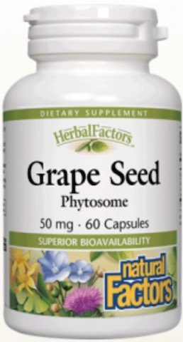 Image of HerbalFactors Grape Seed Phytosome 50 mg