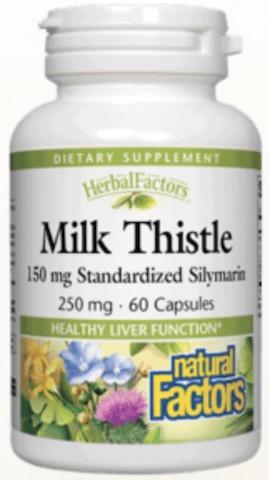 Image of HerbalFactors Milk Thistle Extract 250 mg