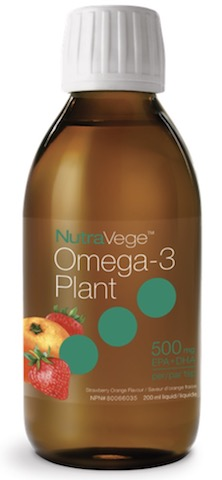 Image of NutraVege Omega-3 Plant Based Liquid  Strawberry Orange