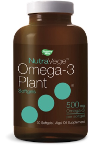 Image of NutraVege Omega-3 Plant Based Softgel