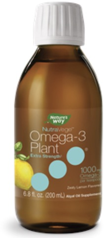 Image of NutraVege Omega-3 Plant Based Extra Strength Liquid Lemon