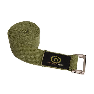Image of 8 Foot Hemp Yoga Strap- Olive