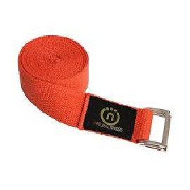 Image of 8 foot Hemp Yoga Strap- Flame