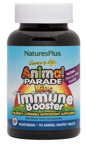Image of Animal Parade Kids Immune Booster Chewable Tropical Berry