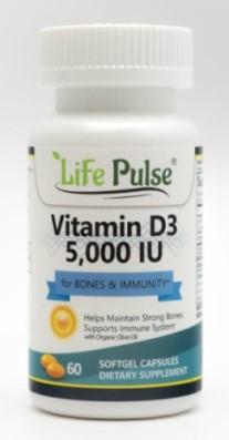 Image of Vitamin D3 5,000 IU Softgels****BUY 2 GET 1 FREE