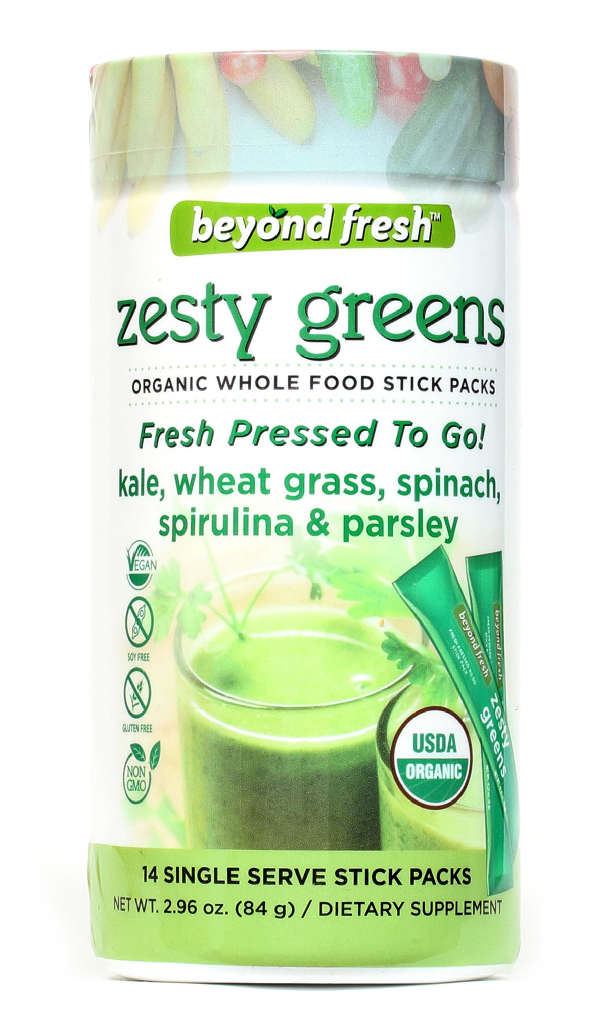 Image of Zesty Greens- Superfood Stick Packs
