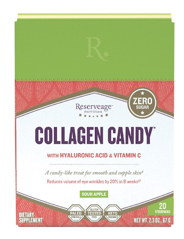 Image of Collagen Candy with Hyaluronic Acid & C Powder Stick Pack Sour Apple