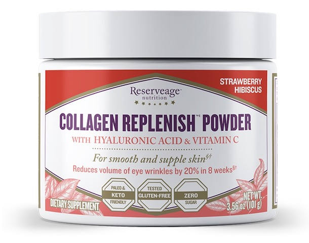 Image of Collagen Replenish Powder Strawberry Hibiscus