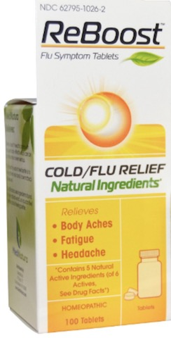 Image of Reboost Cold /Flu Relief Tablet Lemon