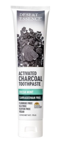 Image of Toothpaste Activated Charcoal (Carrageenan Free) Mint