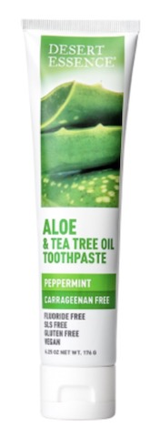 Image of Toothpaste Aloe & Tea Tree Oil (Carrageenan Free) Peppermint