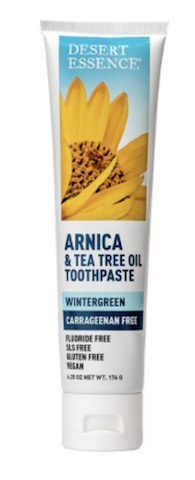 Image of Toothpaste Arnica & Tea Tree Oil (Carrageenan Free) Wintergreen