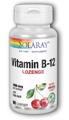 Image of Vitamin B12 Lozenge 1000 mcg with Folic Acid Cherry
