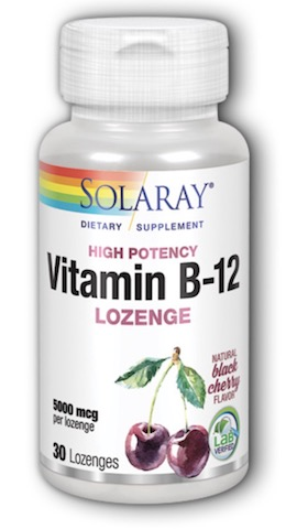 Image of Vitamin B12 Lozenge 5000 mcg Black Cherry