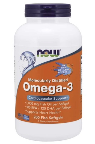 Image of Omega-3 1000 mg Molecularly Distilled Fish Gelatin Softgels