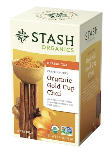 Image of Herbal Tea Organic Gold Cup Chai Caffeine Free