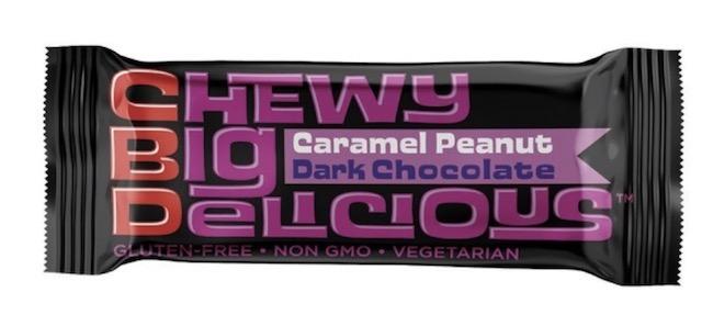 Image of CBD Chewy Big Delicous Protein Bars Caramel Peanut Dark Chocolate
