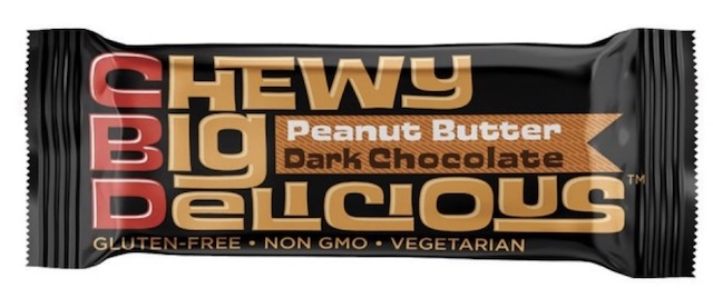 Image of CBD Chewy Big Delicous Protein Bars Peanut Butter Dark Chocolate