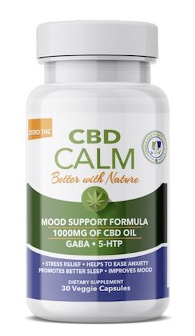 Image of CBD Calm with GABA & 5-HTP Capsule