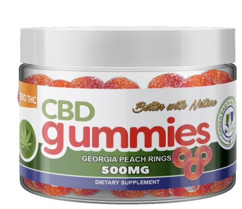 Image of CBD Gummies 500 mg Georgia Peach RIngs